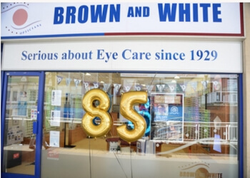 Brown and White Opticians