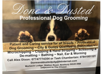 Done & Dusted professional dog grooming