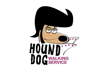 Hound Dog Walking