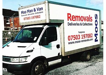 The moo man and van