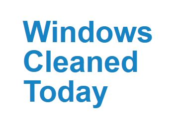 Windows Cleaned Today